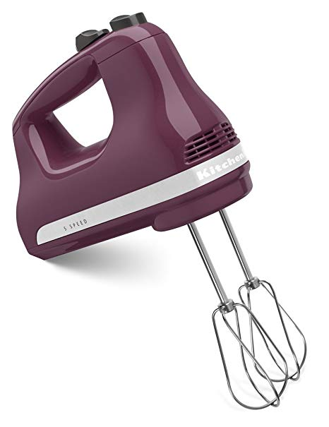 A compact hand mixer with a powerful punch, this KitchenAid tucks away easily into a cabinet or drawer when not in use.